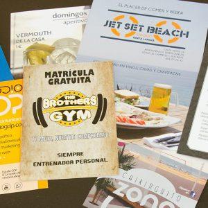 Diseño de flyers e imprenta Alicante - estudio de diseño y agencia de publicidad