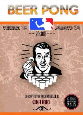diseño cartel Cerdeña Beer Pong - Estudio diseño gráfico Alicante Sàrsia agencia de publicitat Alacant