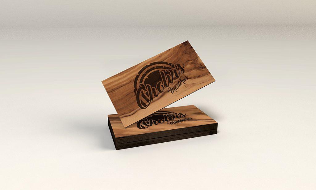 diseño de logotipos en El Campello - carpintería cholvis -diseño de tarjetas - estudio y agencia de comunicación
