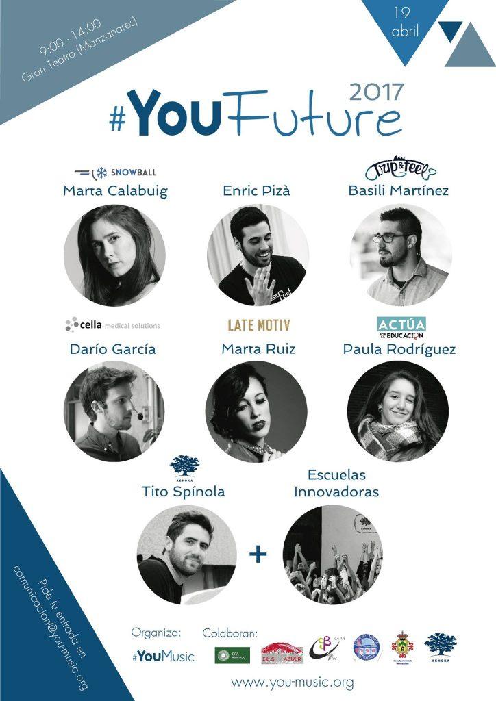 cartel youfuture 2017 - organización de eventos empresariales