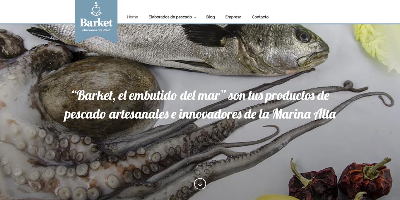 """Disseny web corporativa en la Marina Alta per a AMMA – """"Barket, l'embotit del mar"""""""