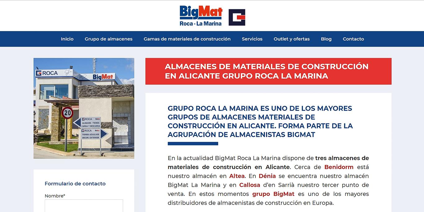 Disseny web per a BigMat Roca – La Marina