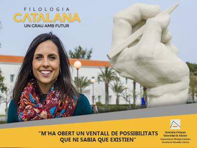 campaña de publicidad facebook Alicante filologia catalana - fotografía, diseño y promoción