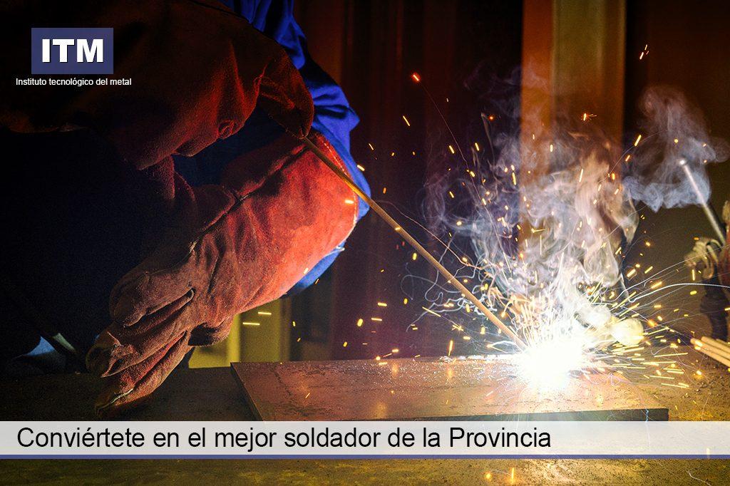 campagne de publicité pour concours de soudure provinciale d'Alicante pour l'Institut Technologique en Métal