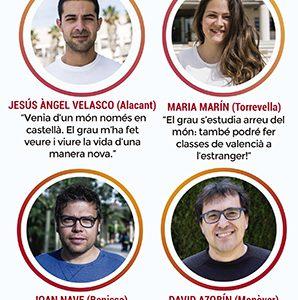 Flyer de la campaña publicitaria para universidad - Filología Catalana UA y UV