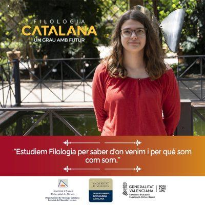 Campaña publicitaria para universidad - Filología Catalana UA y UV Aina Torres