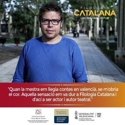 Campaña publicitaria para universidad - Filología Catalana UA y UV Joan Nave