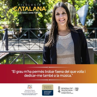 Campaña publicitaria para universidad - Filología Catalana UA y UV Natàlia Pons