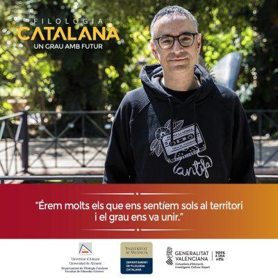 Campaña publicitaria para universidad - Filología Catalana UA y UV Xavi Sarrià