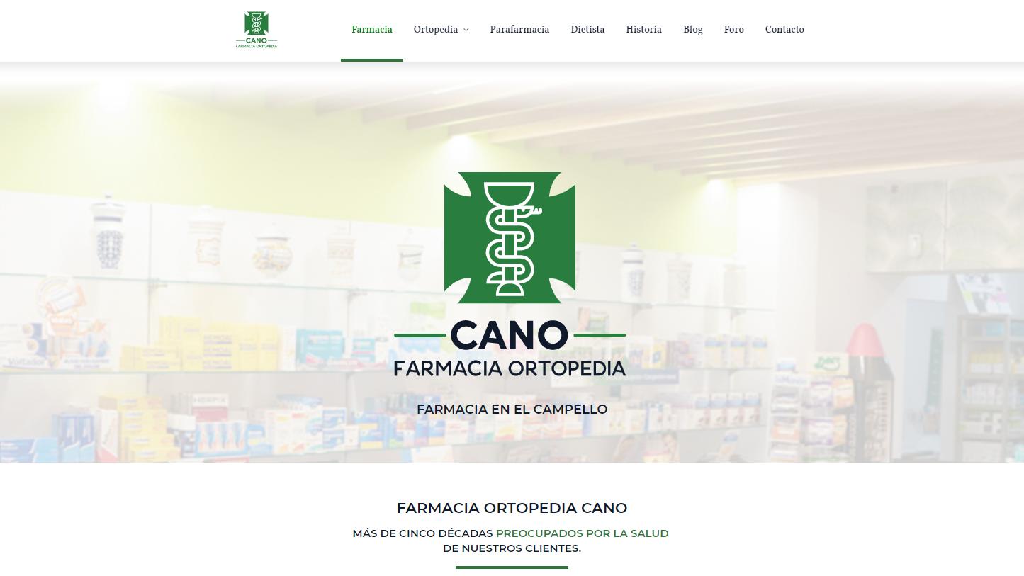 Conception web à El Campello avec contenu et réseaux sociaux pour pharmacie