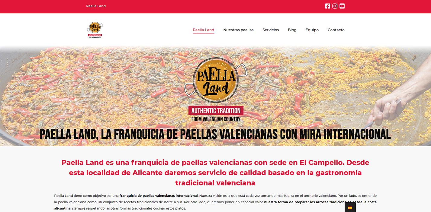 Disseny web per a marca de paelles valencianes