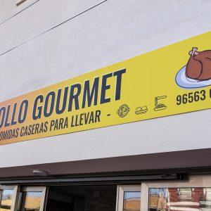 Diseño de rótulos en El Campello para empresa de comida preparada