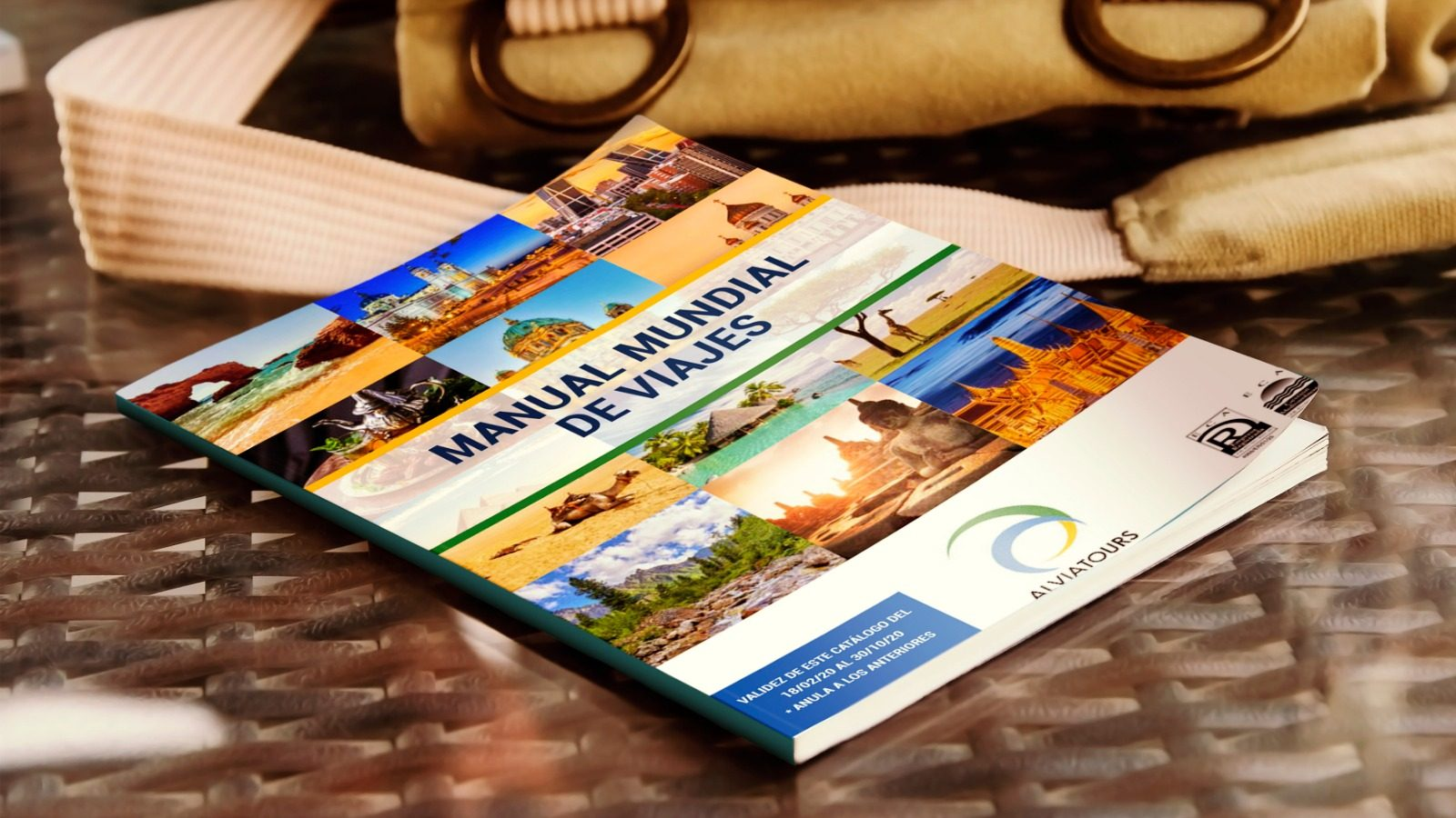 Diseño de catálogo de viajes para agencia turística Alvia