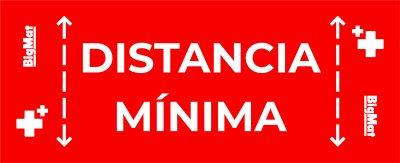 vinilo personalizado antideslizante distancia seguridad corona virus covid 19