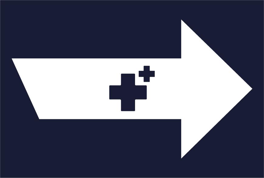 vinilo de suelo - señal de flecha - protocolos sanitarios