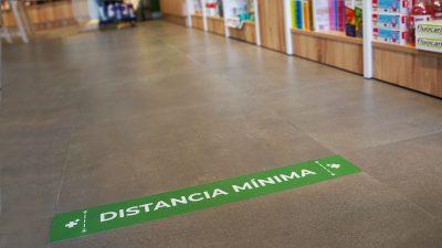señal de distancia mínima para farmacias - diseño personalizable