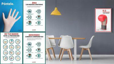 Packs de carteles de seguridad impresos en PVC para empresas