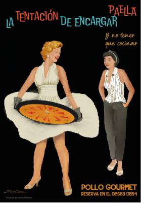 diseño de cartel de paella