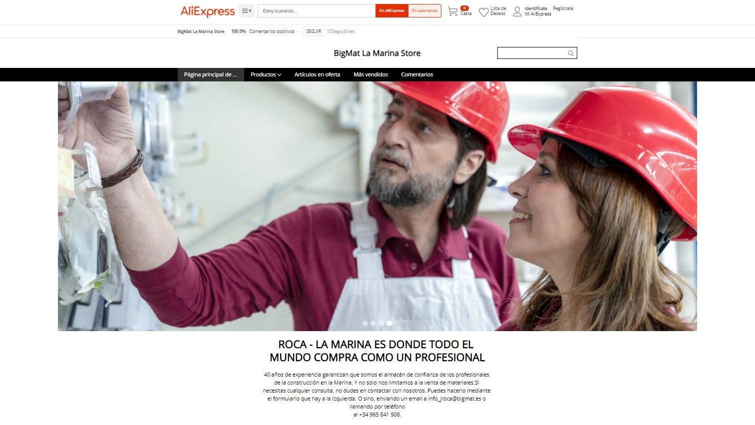 Creación de tienda en Amazon y AliExpress para almacén de construcción de Alicante