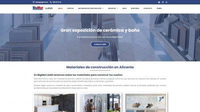 Diseño web para almacén de construcción BigMat Lledó - Sàrsia Publicitat
