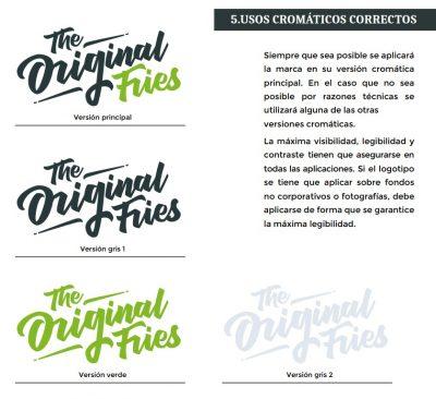 usos de marca en granada original fries